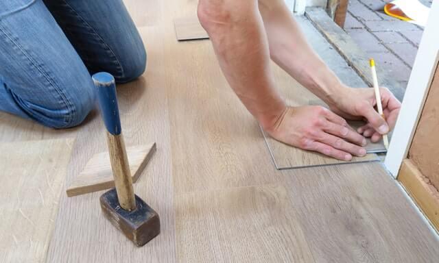 床をきれいにする